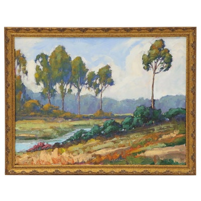 Kevin Yuen Oil Painting of California Landscape
