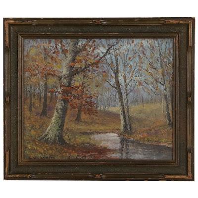 George Lienemann Landscape Oil Painting, 20th Century