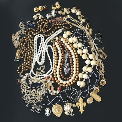 Jewelry Collection Featuring Vintage Givenchy, Ben Amun and Sterling Silver