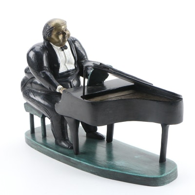 Bruno Luna Bronze Sculpture of a Pianist
