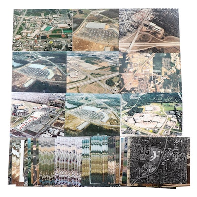 Laser Jet and Digital Photographs of Aerial View Landscapes
