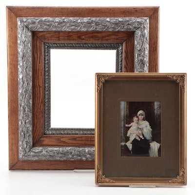 Arts and Crafts Frame with a Print of Madonna and Child