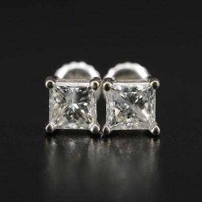 14K 1.50 CTW Diamond Solitaire Earrings