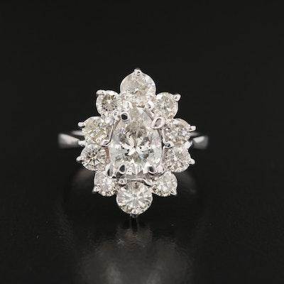 14K Gold 1.90 CTW Diamond Ring