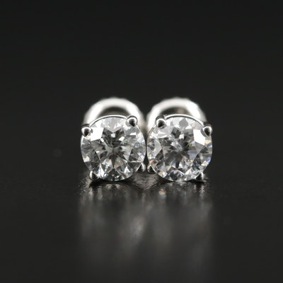 14K 1.25 CTW Diamond Stud Earrings
