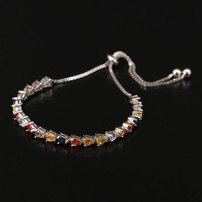 Sterling Silver Fancy Sapphire Bracelet