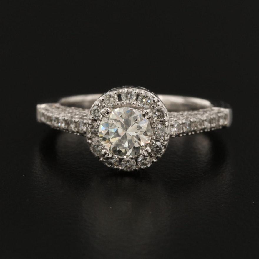 14K Gold 1.33 CTW Diamond Ring