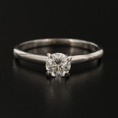 14K 0.59 CT Solitaire Diamond Ring