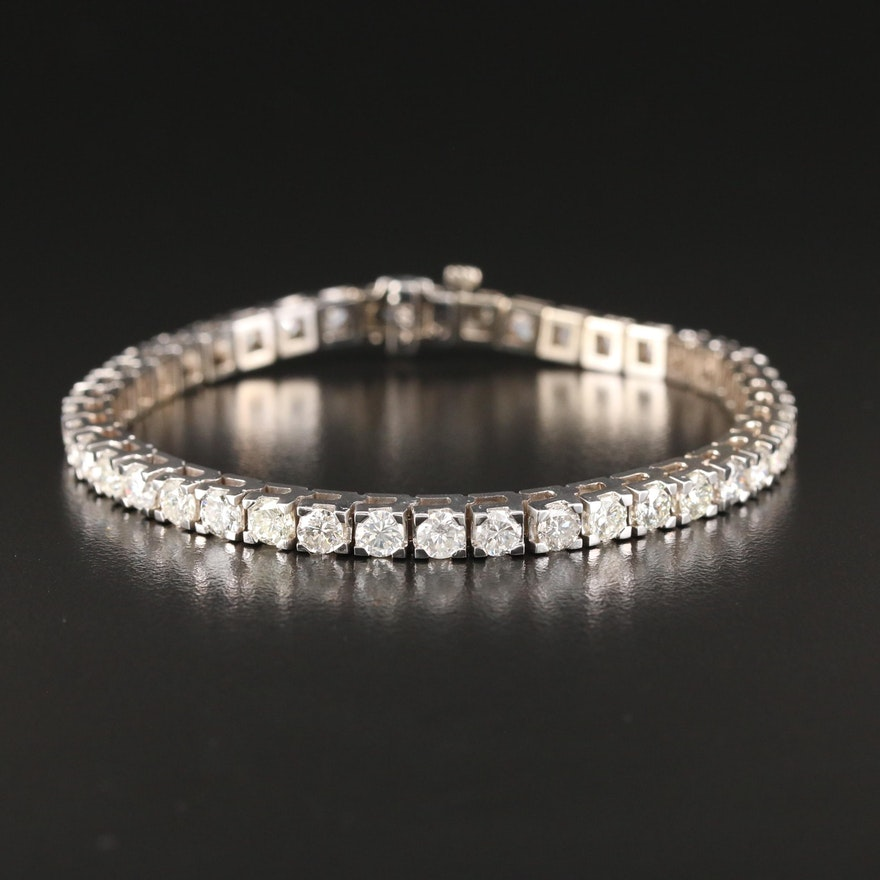 14K Gold 7.25 CTW Diamond Bracelet