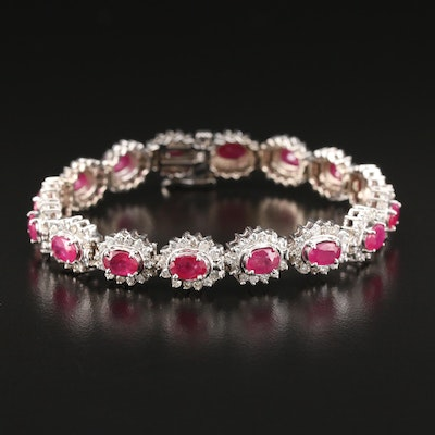 14K Ruby and 4.02 CTW Diamond Bracelet