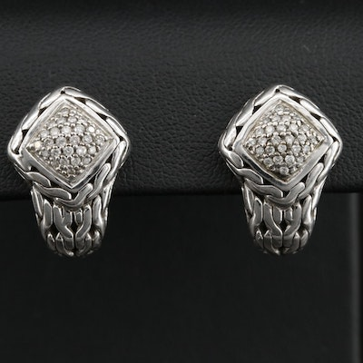 "John Hardy ""Classic"" Sterling Chain Earrings"