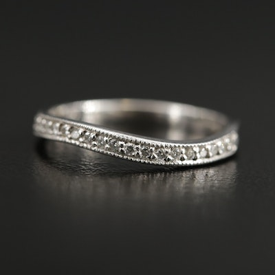 Barkev's 14K Diamond Wavy Band