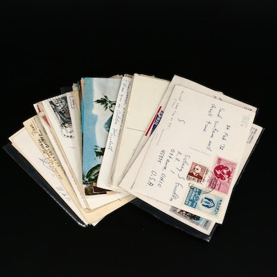 Fifty-One Vintage Postcards from Around the World, 1910s Through 1970s
