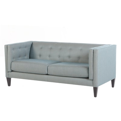 Crate and Barrel Upholstered Box Sofa