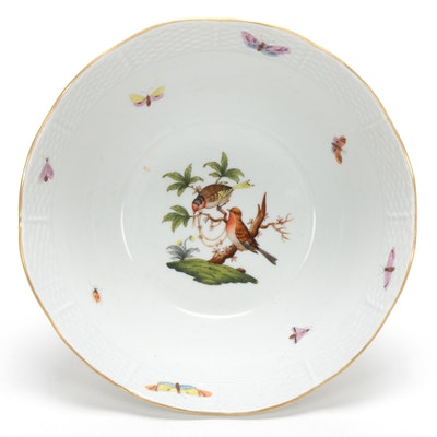 "Herend Hand-Painted ""Rothschild Bird"" Serving Bowl"
