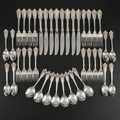 """Wallace """"Grande Baroque"""" Sterling Silver Flatware, Mid to Late 20th Century"""