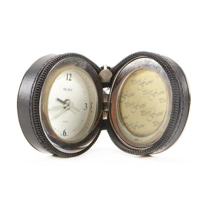 "Bey-Berk ""Sevan"" Travel Alarm Clock with Photo Frame"