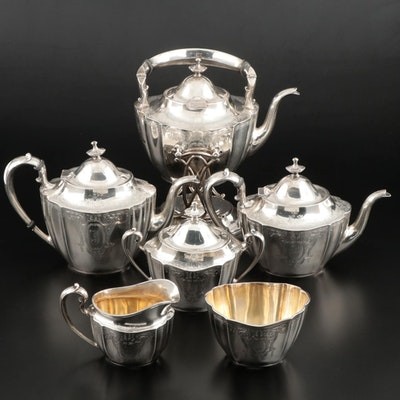 "Frank M. Whiting ""Lily-Floral"" Sterling Silver Tea and Coffee Service"