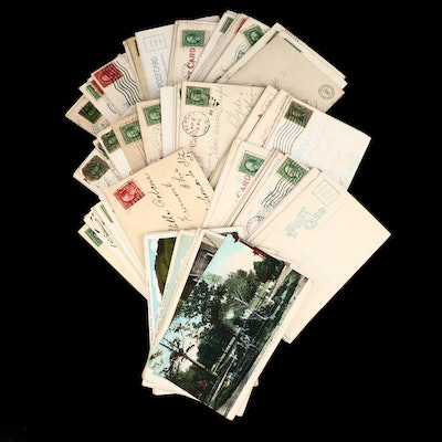 115 Early 20th Century U.S. Postcards