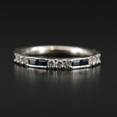 Gabriel & Co. 14K Gold Diamond and Sapphire Band