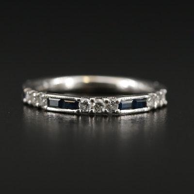 Gabriel & Co. 14K Gold Diamond and Sapphire Band