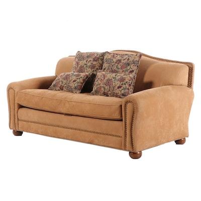 Lenore Mulligan Suede Leather Sofa