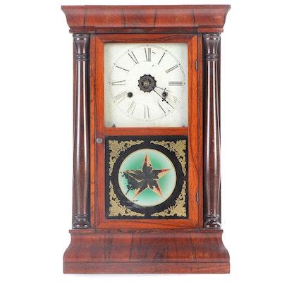 E.N. Welch Mfg. Co. Rosewood Shelf Clock, Mid-19th C.
