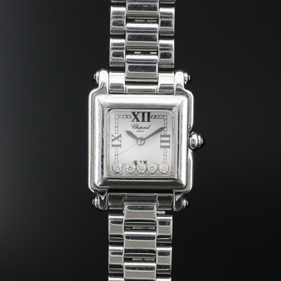 Chopard Happy Sport Diamond Stainless Steel Quartz Wristwatch