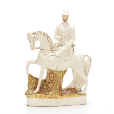 "Staffordshire Porcelain ""Lord Roberts"" Figurine, 19th Century"