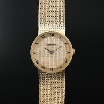 14K Longines Stem Wind Wristwatch with 14K Dial