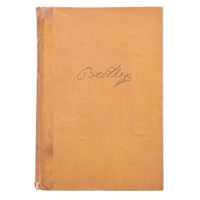 """1924 """"Beethoven: Werke und Leben"""" by Leopold Schmidt"""
