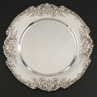 "Reed & Barton ""Francis I"" Sterling Silver Service Plate, Mid to Late 20th C."
