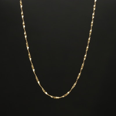 14K Gold Twisted Chain Necklace