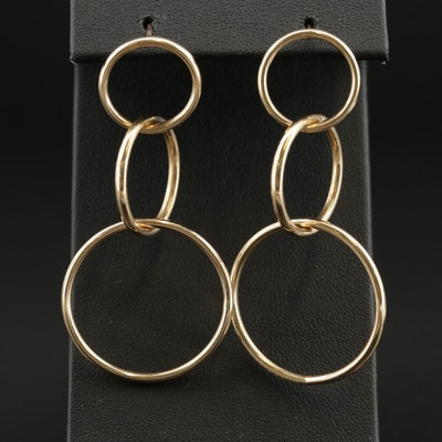 14K Concentric Dangle Earrings