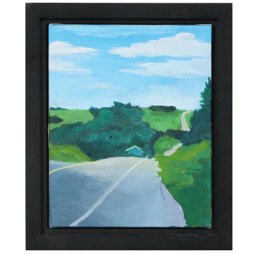 "Landscape Acrylic Painting ""Color Blocking"""
