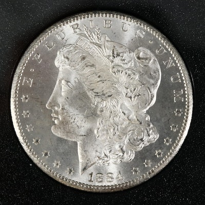 GSA Uncirculated 1884-CC Morgan Silver Dollar