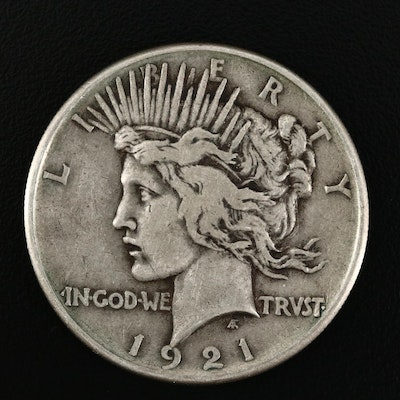 Key Date High Relief 1921 Peace Silver Dollar