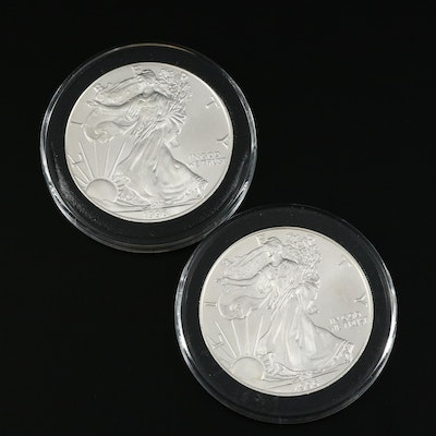 Two Better Date 1996 Uncirculated American Silver Eagle Bullion Coins