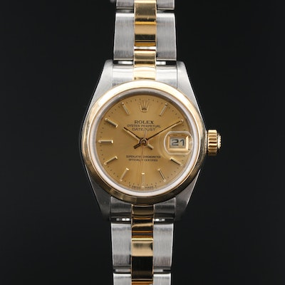 2000 Rolex Datejust 18K and Stainless Steel Automatic Wristwatch