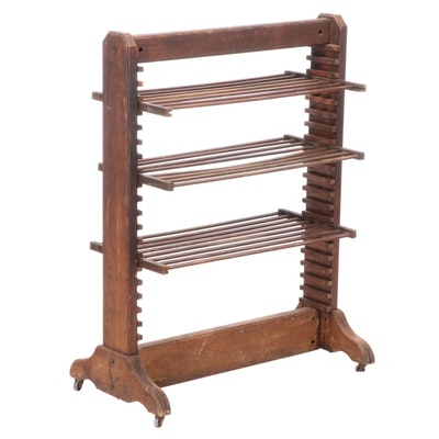 Industrial Trestle-Base Drying Rack