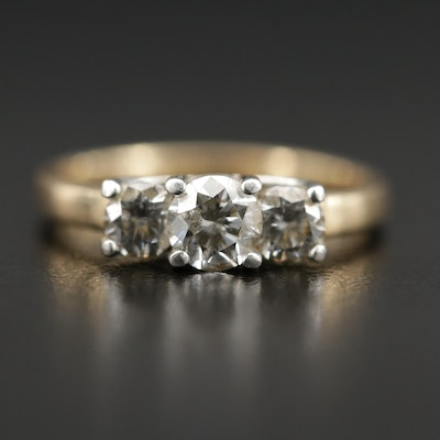 14K Gold and Platinum Diamond Ring