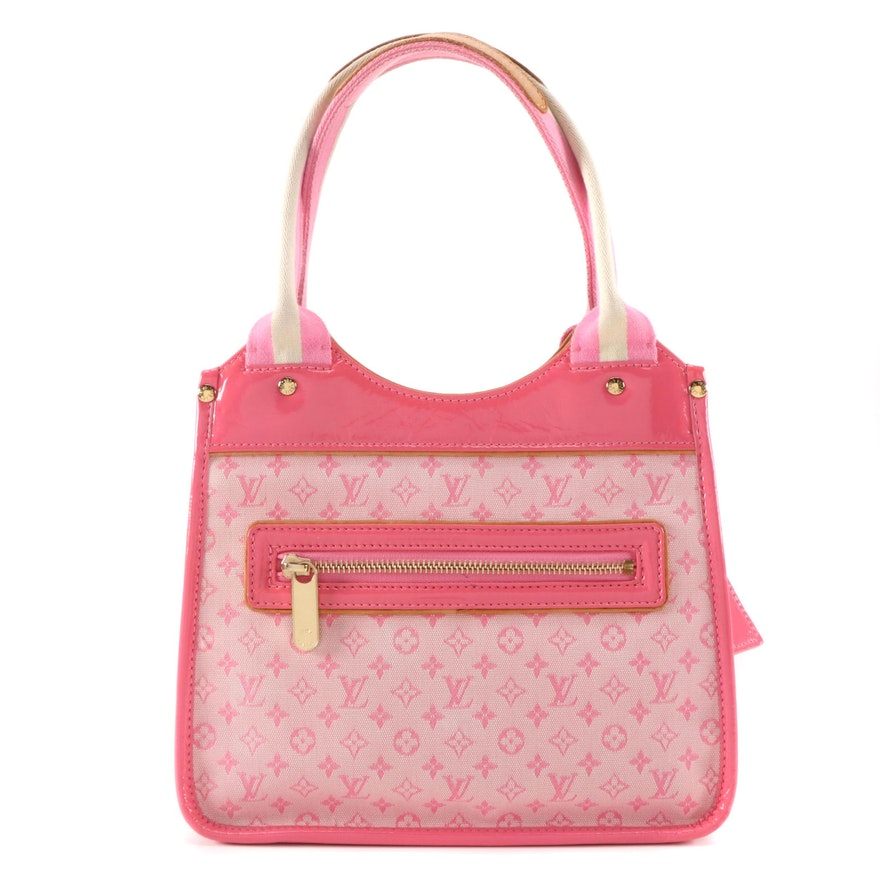 Louis Vuitton Sac Kathleen Bag in Rose Mini Lin Monogram Canvas