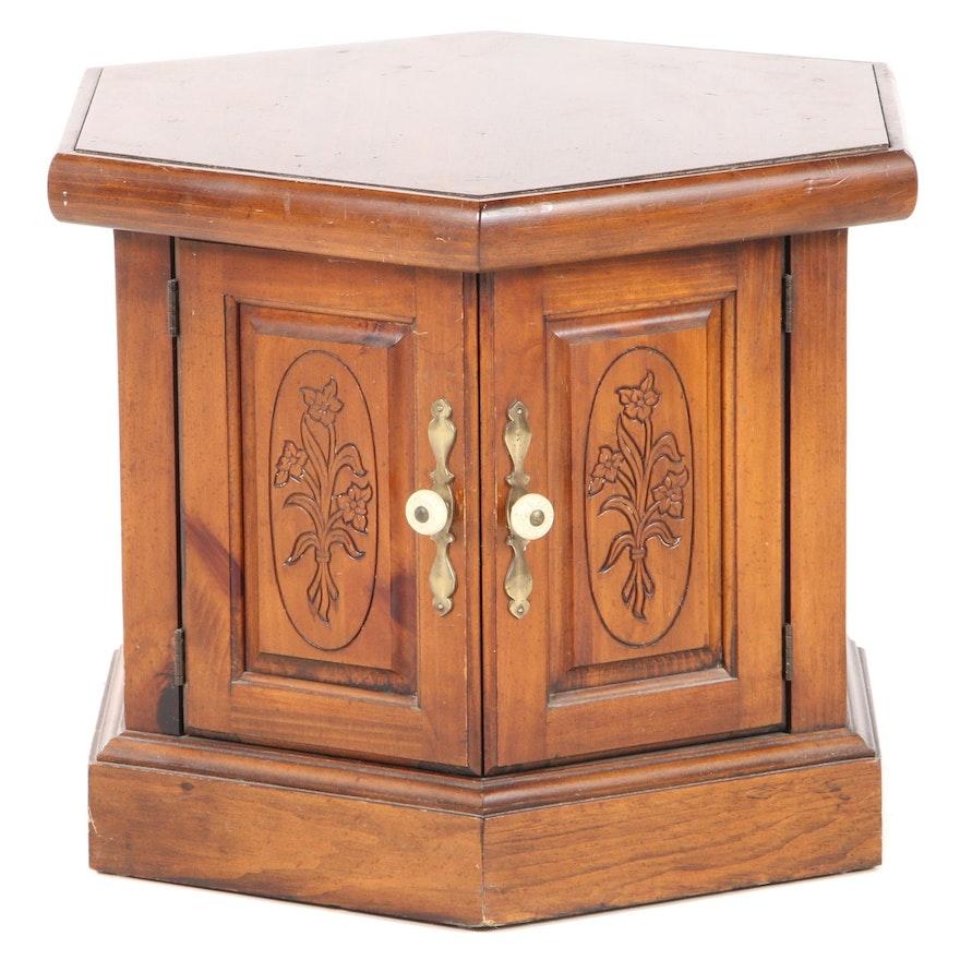 Pine Hexagonal End Table
