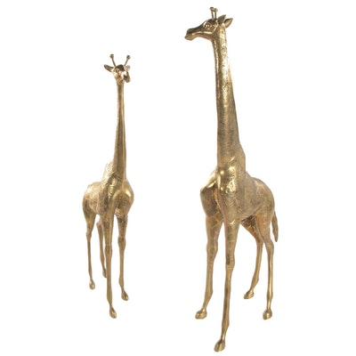 Brass Giraffe Sculptures