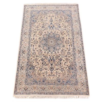 5'7 x 9'11 Hand-Knotted Persian Nain Wool Rug