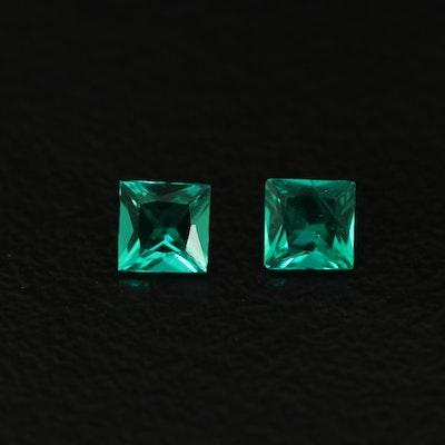 Matching Loose 0.24 CTW Laboratory Grown Emeralds