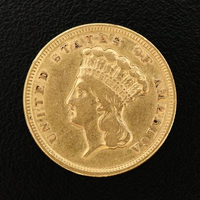 1854 Indian Princess Head $3 Gold Coin