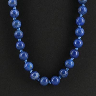 14K Gold Lapis Lazuli Necklace