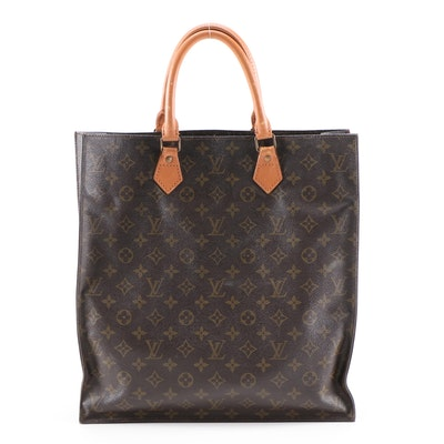 Refurbished Louis Vuitton Sac Plat in Monogram Canvas and Leather, 1988 Vintage