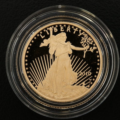 2010-W 1/4 Oz. $10 Gold Eagle Proof Bullion Coin
